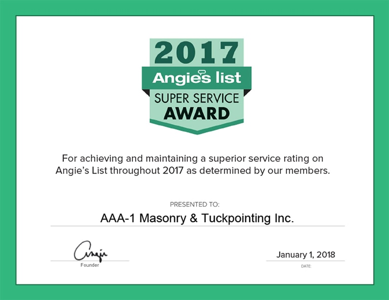 Angie's List Super Service Award, 2017