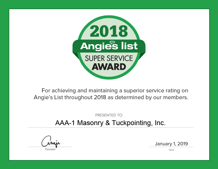 Angie's List Super Service Award, 2018