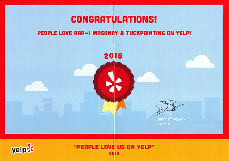 People Love Us On Yelp! Award, 2018
