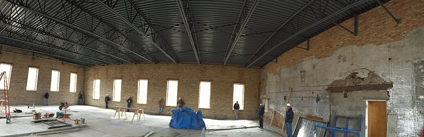 After transformation: AAA-1 masons in a 19th-century former dairy in Carpentersville